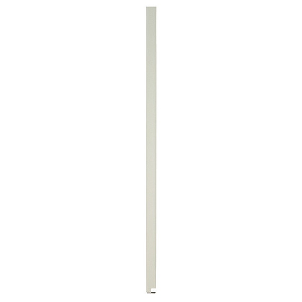 """Global Partitions 82"""" x 18"""" Pilaster Toilet Partition,  Solid Polymer,  Cream 65-M087189-9235"""
