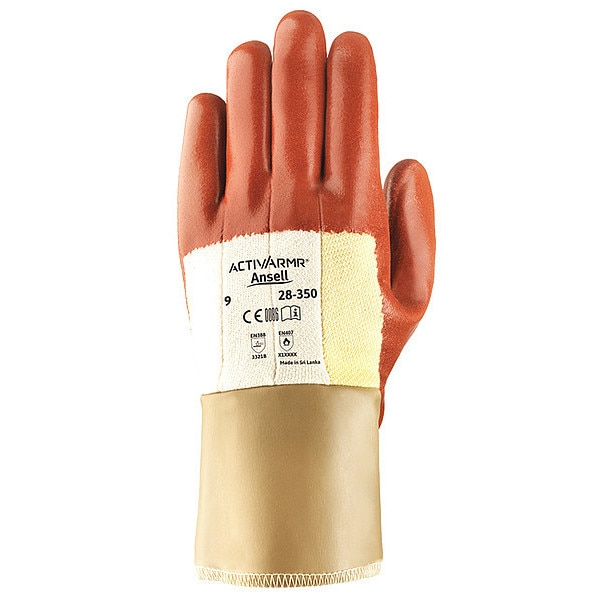 Ansell Cut Resistant Coated Gloves,  A2 Cut Level,  Nitrile,  M,  1 PR 28-350