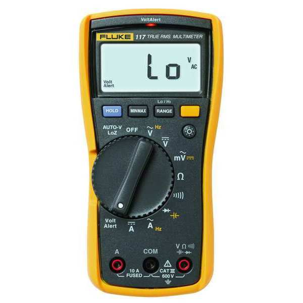 Fluke Digital Multimeter with Non-Contact Voltage for Electrician's FLUKE-117