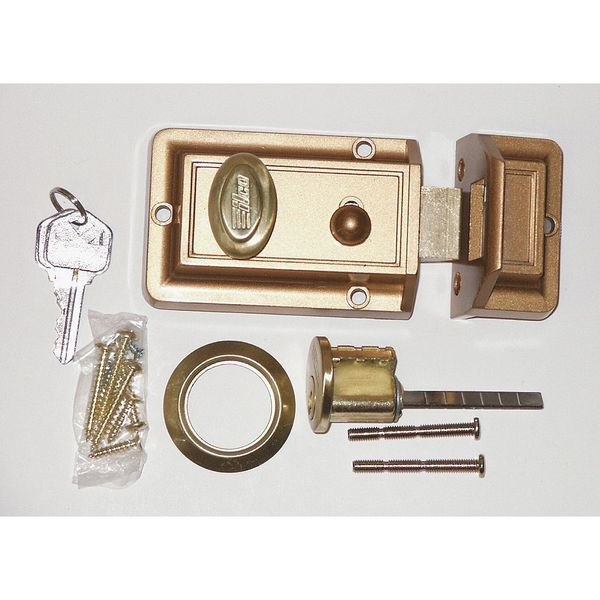 Kaba Ilco Auxiliary Lock, Night Latch, Bronz 220-53-51