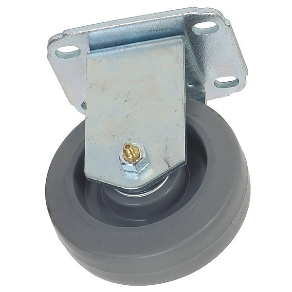 Zoro Select Rigd Plat Castr, Therm Rbbr, 4 in., 165 lb. 1G093