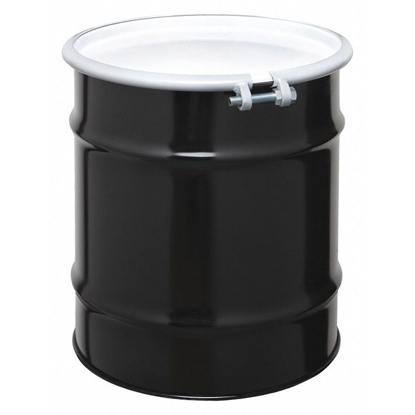Zoro Select Transport Drum, Open Head, 20 gal., Black CQ2006