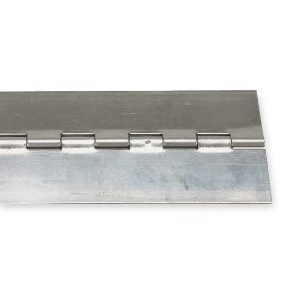 Zoro Select 3/4 in W x 72 in H Stainless steel Continuous Hinge 1JEP6