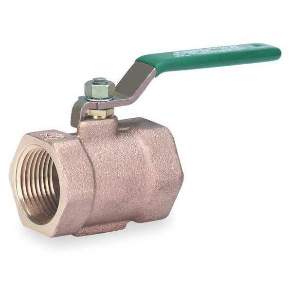 Milwaukee Valve Disc Valve, 1 Pc, 3/4 In, Bronze, FNPT BB2-102 3/4