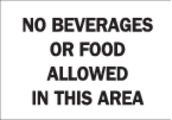 Brady Notice Sign, 10 x 14In, BK/WHT, ENG, Text 22844