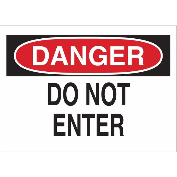 Brady Danger Sign, 7 x 10In, R and BK/WHT, ENG 84571