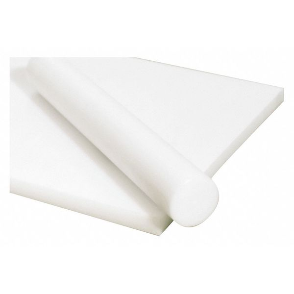 """Polymershapes White Acetal Copolymer Rod Stock 3 Ft L,  2"""" Dia. 1NNA2"""