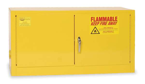 Eagle Flammable Safety Cabinet, 15 gal., Yellow ADD14