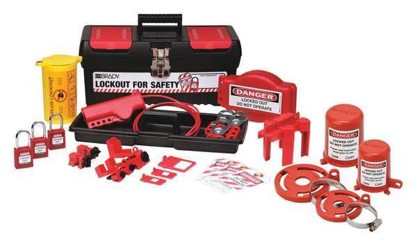 Brady Portable Lockout Kit, Electrical/Valve, 21 105955