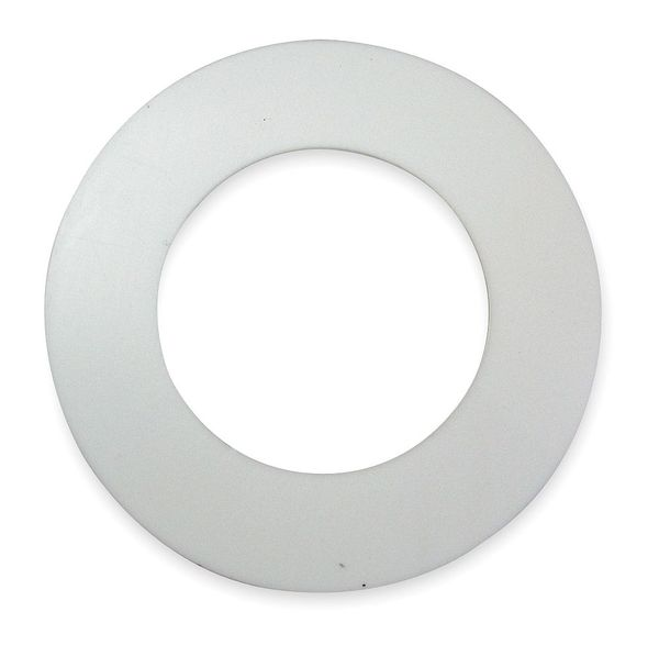 "Zoro Select Gasket,  Ring,  2 In,  Virgin PTFE,  White,  Thickness: 1/16"" D020150R202027"