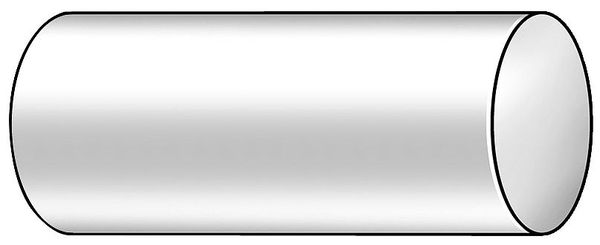 Polymershapes Rod, Nylon 6, Off White, 3 In Dia x 3 Ft L 1UVF5