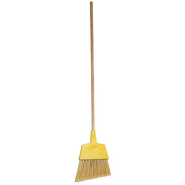 "Tough Guy TOUGH GUY Yellow 12"" Synthetic Angle Broom 1VAC4"