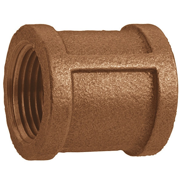 "Zoro Select 2"" FNPT Red Brass Coupling 1VFF1"