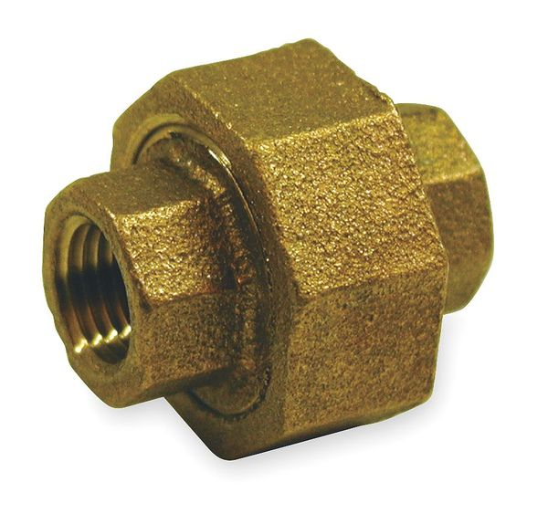 "Zoro Select 3/4"" FNPT Red Brass Union 6RDA6"