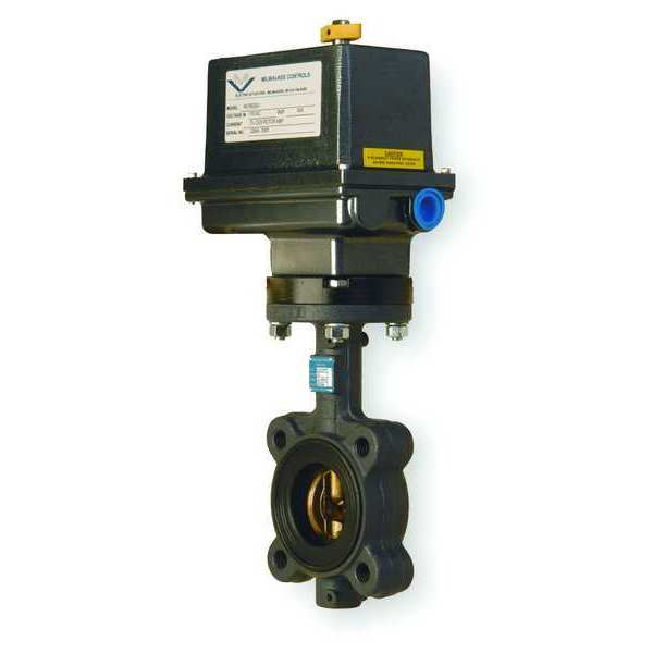 Milwaukee Valve Butterfly Valve, Electric, Size 6 In GLC33E 6
