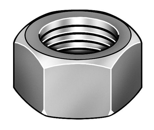 "Zoro Select 1-3/4""-5 Grade 8 Plain Finish Carbon Steel Hex Nut 3HDY8"