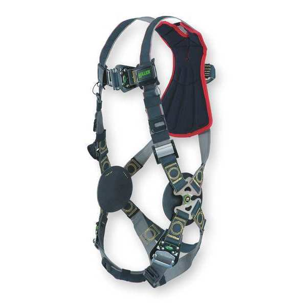Honeywell Miller Arc-Flash Rated Full Body Harness,  Vest Style,  L/XL,  Black RKNAR-QC/UBK