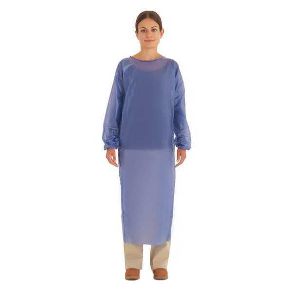 Ansell Cleanroom Apron, Blue, Large 56-903