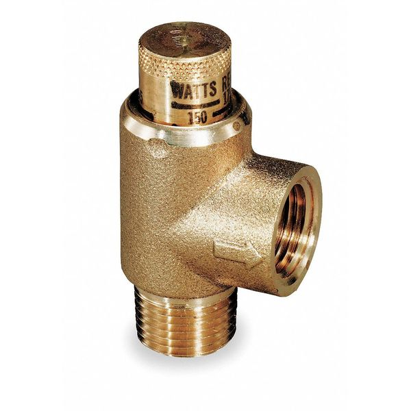 Watts Adjustable Relief Valve, 3/4 x 1/2,175psi 530-3/4
