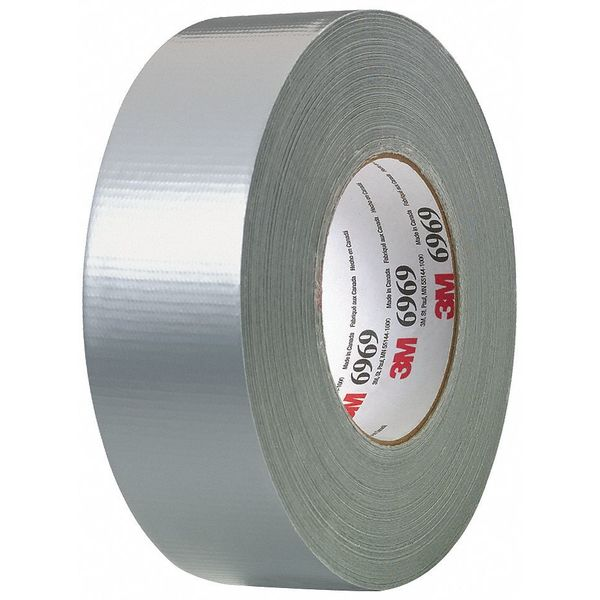 3M Duct Tape, 2 In x 60 yd, 10.5 mil, Silver 6969
