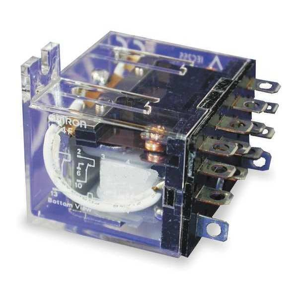 Omron Relay, 14Pin, 4PDT, 10A, 120VAC LY4F-AC120