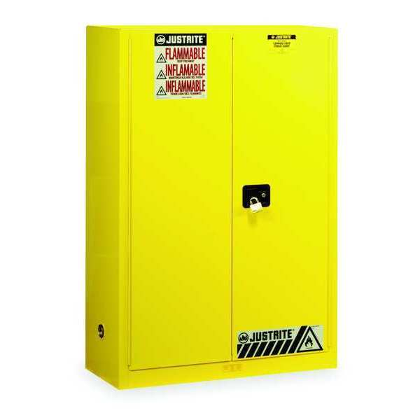 Justrite Sure-Grip EX Flammable Safety Cabinet,  45 gal.,  Yellow 894500