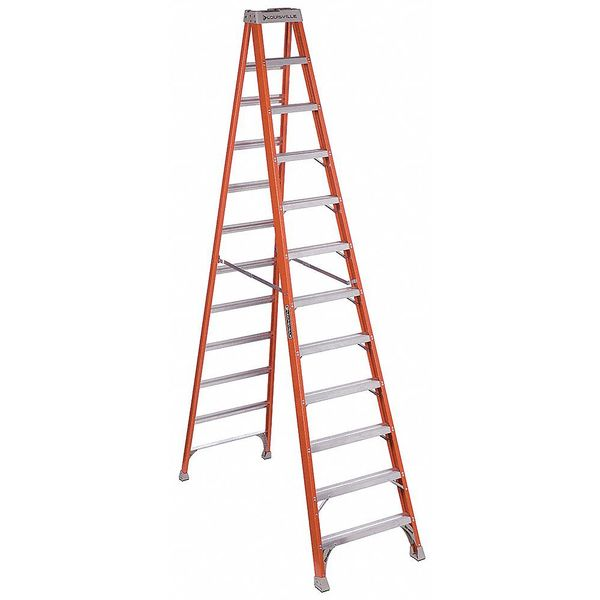 Louisville 12 ft Fiberglass 300 lb Capacity Stepladder IA FS1512