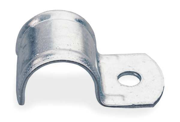 Zoro Select One Hole Clamp, 1/2 In Pipe Sz, Steel 0070050EG