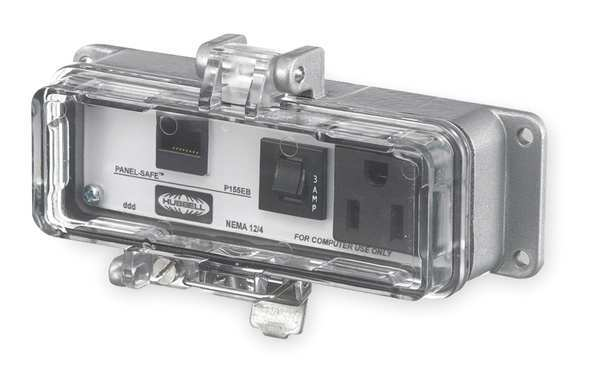 Hubbell Wiring Device-Kellems Access Port,  Power And Data,  NEMA 12/4,  Length: 5.51 in P155EB