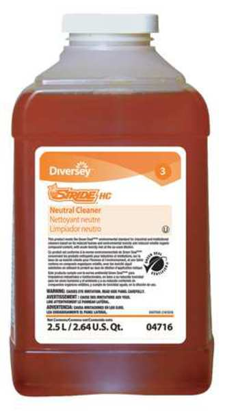Diversey Neutral Cleaner, Size 2.5L, Orange, PK2 904716