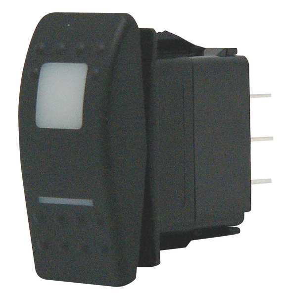 Carling Technologies Lighted Rocker Switch,  SPST,  3 Connections V1D1B60B-ARC00-000