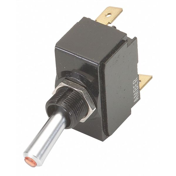 Carling Technologies Toggle Switch,  SPST,  10A @ 250V,  Quick Connect LT-1511-610-012