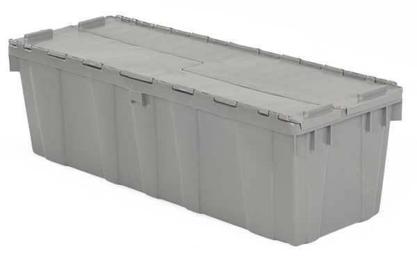Orbis Attached Lid Container,  3.3 cu. ft.,  Gray FP32 Gray