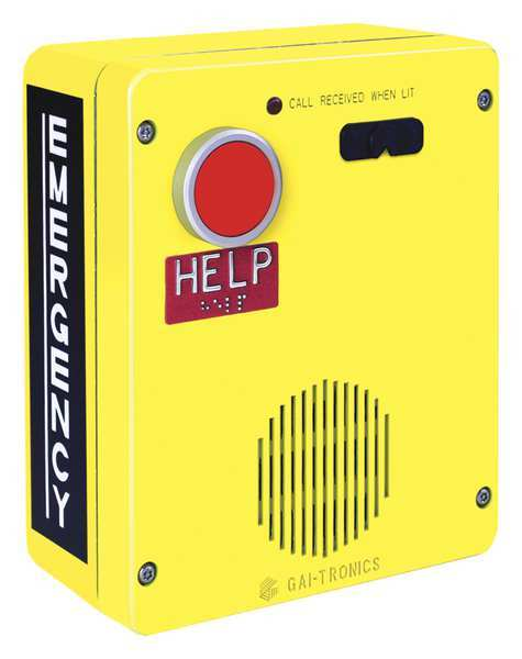 Hubbell Gai-Tronics Emergency Weatherproof Telephone,  1 Button Auto Dial 393-001