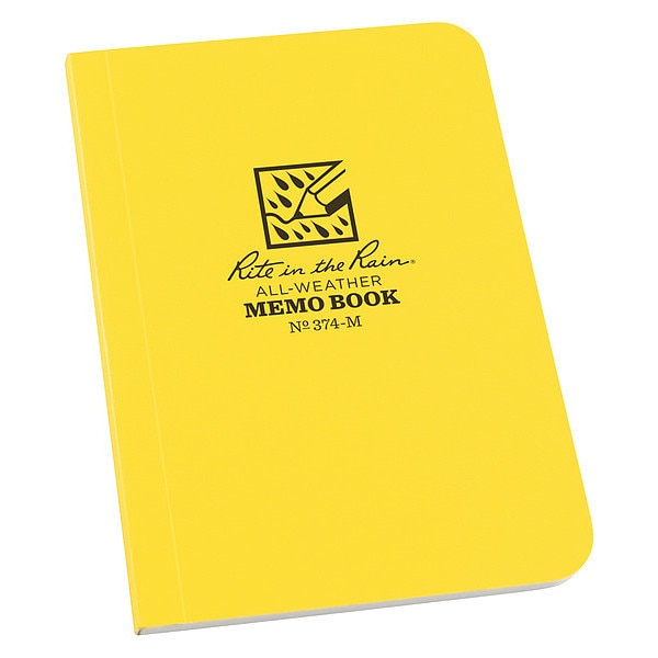 Rite In The Rain All Weather Pocket Memo Book, 3-1/2x5 in. 374-M