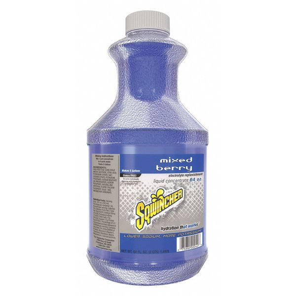 Sqwincher Sports Drink Liquid Concentrate 64 oz.,  Mixed Berry 159030320