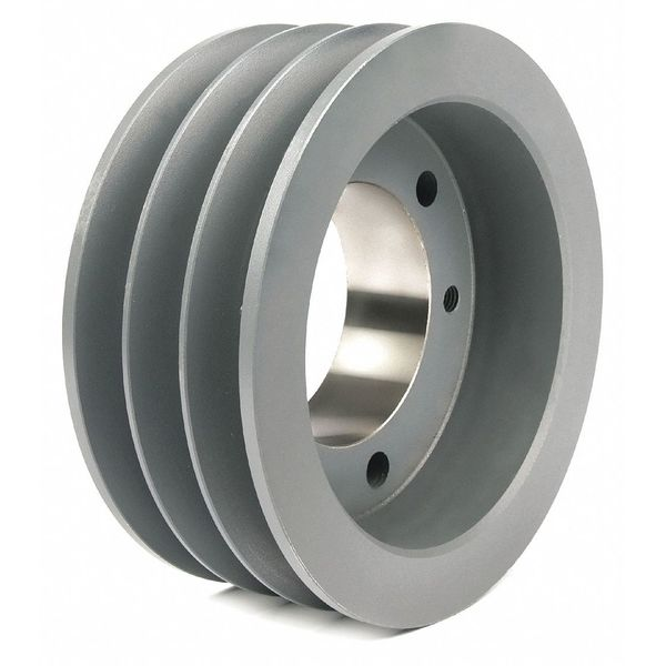 """Tb Wood'S 1/2"""" to 2-15/16"""" Quick Detachable Bushed Bore 3 Groove 7.40"""" OD 703C"""