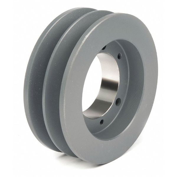"""Tb Wood'S 1/2"""" to 1-5/8"""" Quick Detachable Bushed Bore 2 Groove 6.00 in OD 3V602"""