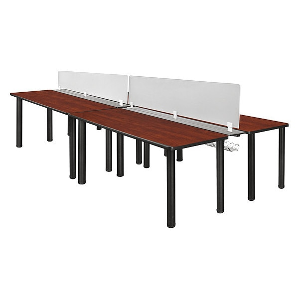 """Kee Desking Kee, Dbl Bnch Sys, PrivacyDivision, 60""""x24"""" MBSPD12024CHBPBK"""