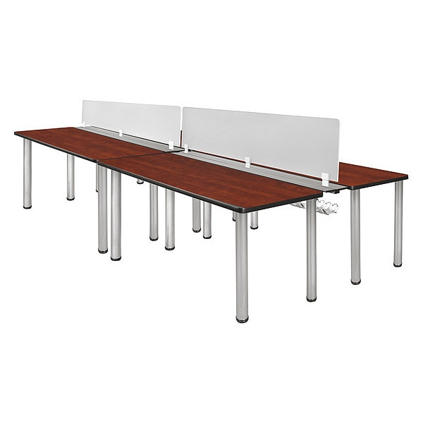 """Kee Desking Kee, Dbl Bnch Sys, PrivacyDivision, 60""""x24"""" MBSPD12024CHBPCM"""