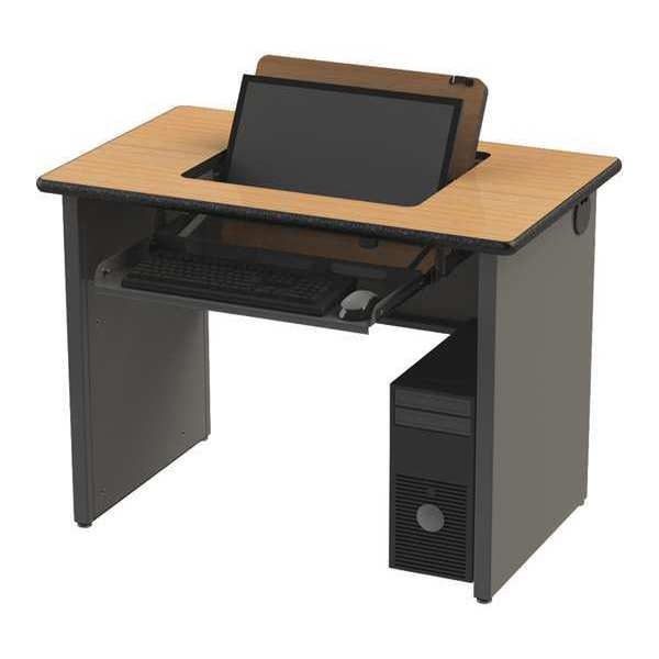 "Greene Manufacturing, Inc. Single NO Flip Desk,  26"" X 42"" X 34"" SRI-2672-34-A"