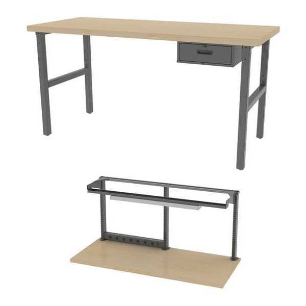 """Greene Manufacturing, Inc. Leveling Feet Workbenches,  72"""" W,  28-3/4"""" to 37-1/4"""" Height BT-366M-2-CFG1"""