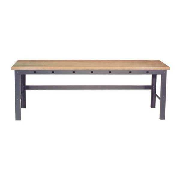 """Greene Manufacturing, Inc. Work Station With Front Power Apron,  84"""" W,  28-3/4"""" to 37-1/4"""" Height GP-637"""
