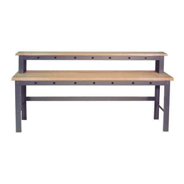 """Greene Manufacturing, Inc. Work Station With Riser Shelf,  84"""" W,  42-1/2"""" to 51"""" Height GP-927"""