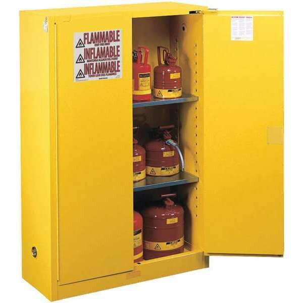 """Greene Manufacturing, Inc. Flammable Storage Cabinet, 43""""Wx18""""Dx65""""H WCF-3672-FL-S"""