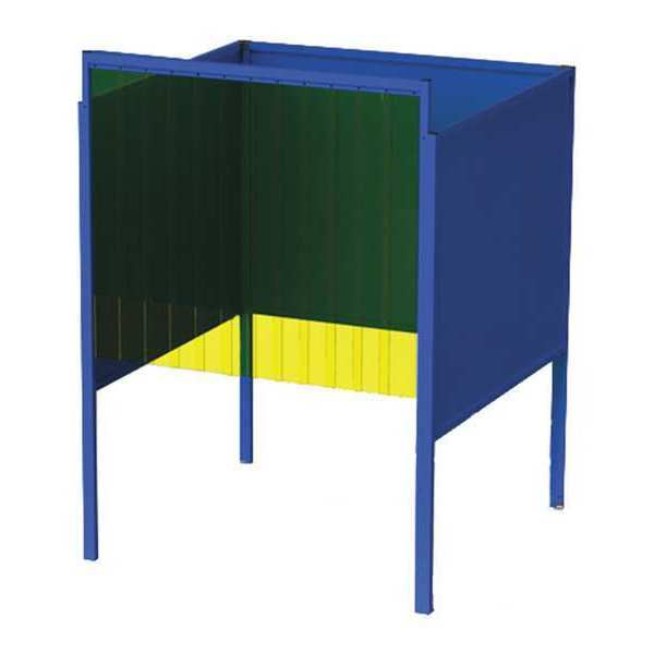 Greene Manufacturing, Inc. Welding Booth, 6ft.x6ft., Wall Mounted GB-7266.S-CO.STL
