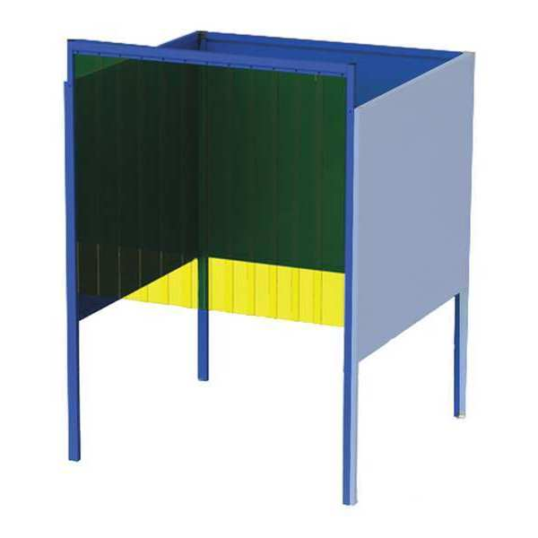 Greene Manufacturing, Inc. Welding Booth, 4ft.x4ft., Wall Mounted GB-74.04.A-CO
