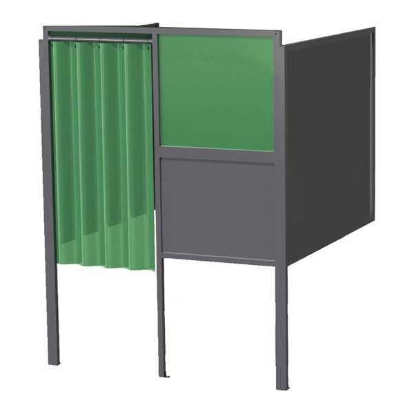 Greene Manufacturing, Inc. Welding Booth, 4ft.x4ft., Wall Mounted GB-74.S.STL