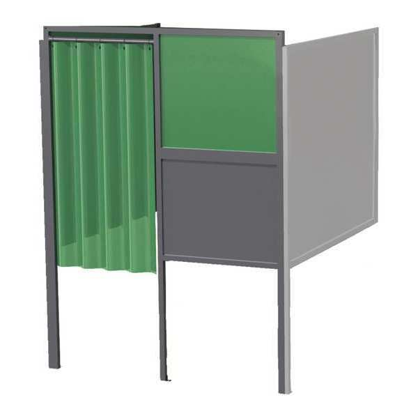Greene Manufacturing, Inc. Welding Booth, 4ft.x5ft., Wall Mounted GB-724.02.A.STL