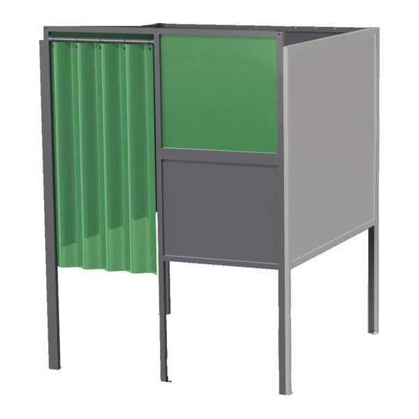 Greene Manufacturing, Inc. Welding Booth, 6ft.x6ft., Wall Mounted GB-7266.A